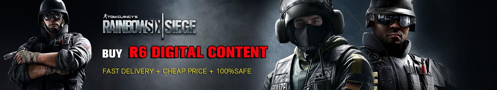 Buy Rainbow Six Credits,Cheap R6 Digital Content Best Price for sale