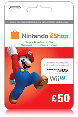 Nintendo Wii U/3DS eShop Prepaid Card 50 GBP- UK