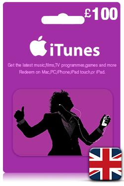 iTunes Gift Card 100 GBP- UK
