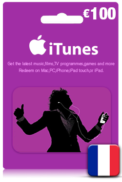 iTunes Gift Card 100 Euro- FR