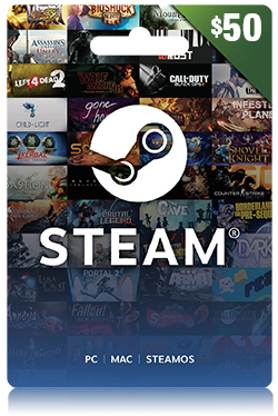 Steam Wallet Code 50 USD - Global
