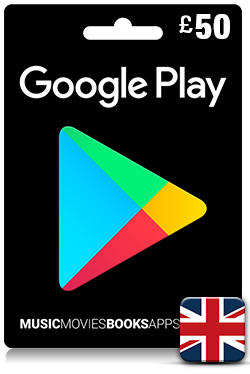Google Play Gift Card 50 GBP - UK