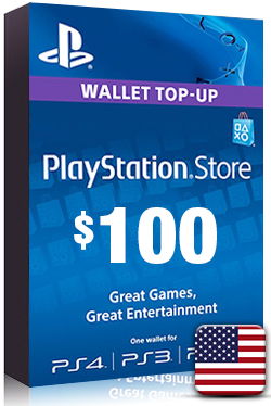 PlayStation Network Card PSN Key 100 Dollar [ US ]