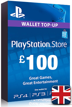 PlayStation Network Card PSN Key 100 Pound [ UK ]