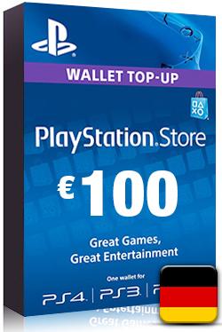 PlayStation Network Card PSN Key 100 Euro [ DE ]