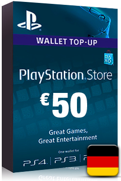 PlayStation Network Card PSN Key 50 Euro [ DE ]