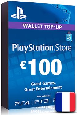 PlayStation Network Card PSN Key 100 Euro [ FR ]