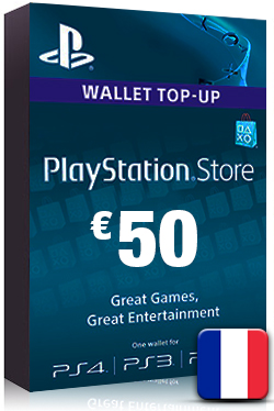 PlayStation Network Card PSN Key 50 Euro [ FR ]