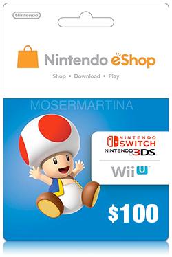 Nintendo eShop Prepaid Card 100 USD - US