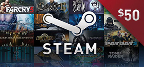 Steam 50 USD Top UP