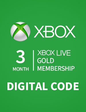 3 MONTH XBOX LIVE GOLD