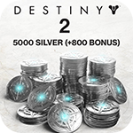 5000 (+1000 Bonus) Destiny 2 Silver