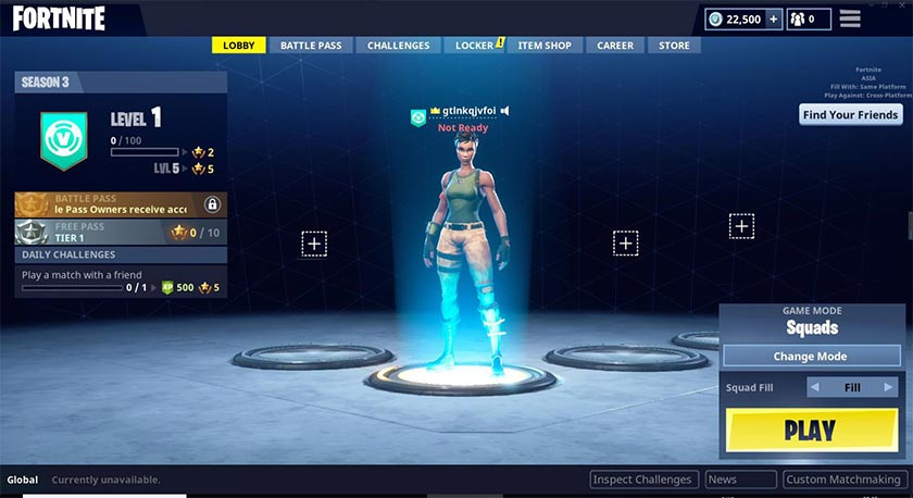 Can u do custom matchmaking in fortnite