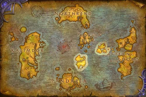 Warmane WoW World Map