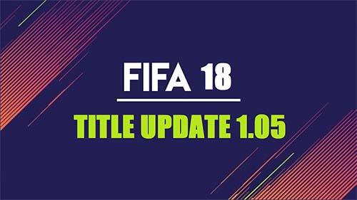 fifa 18 update 1.05